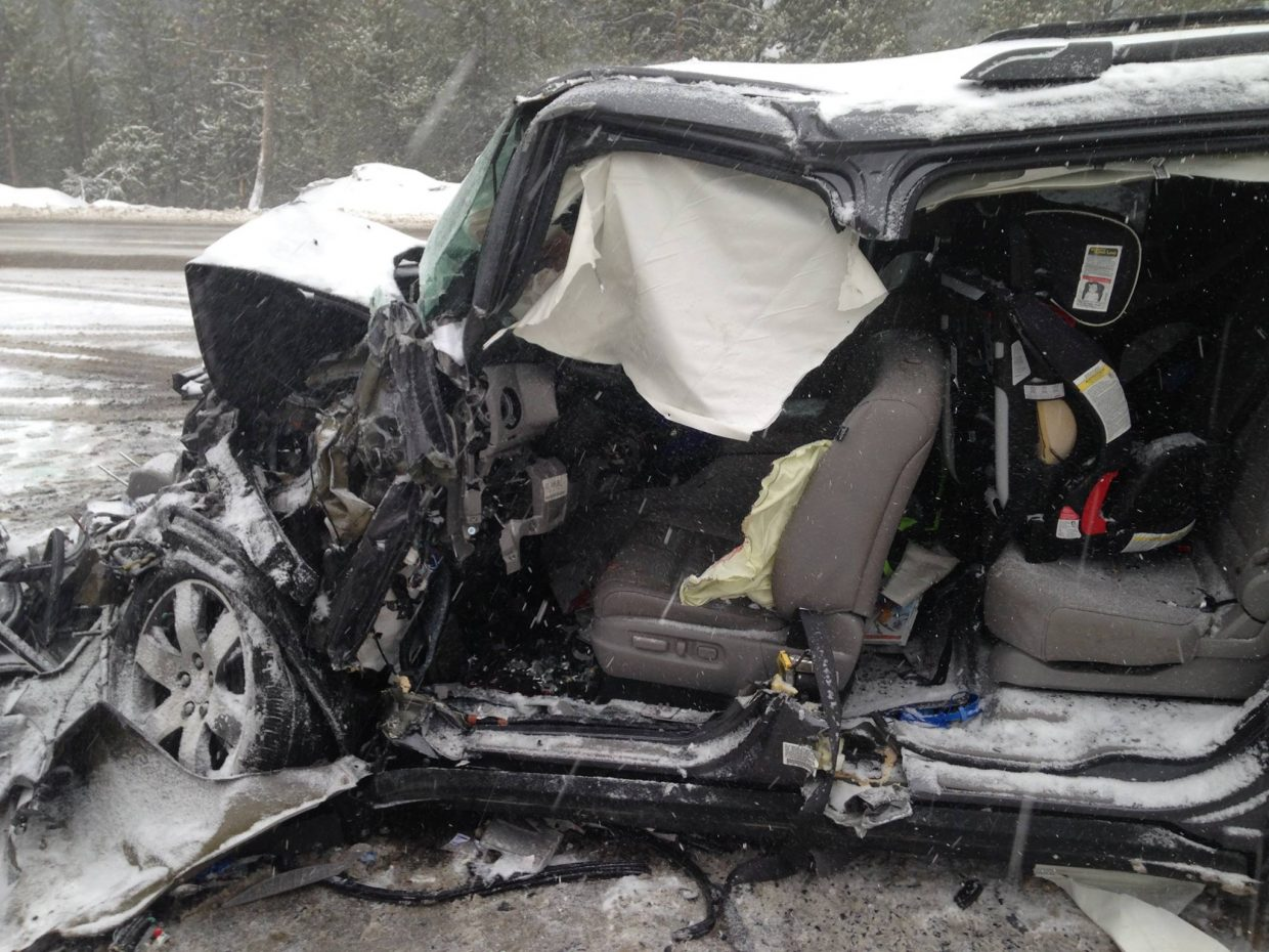 Excessive speed possible factor in head-on crash on Rabbit