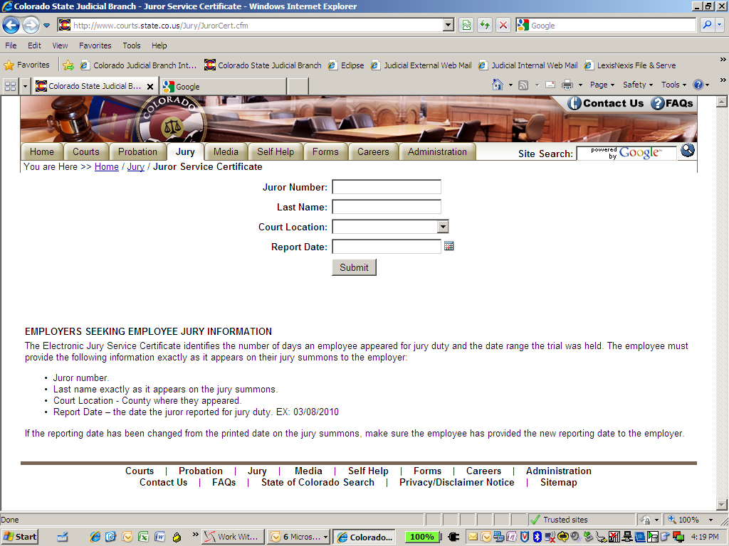 Website gives proof of service for jurors | SteamboatToday com
