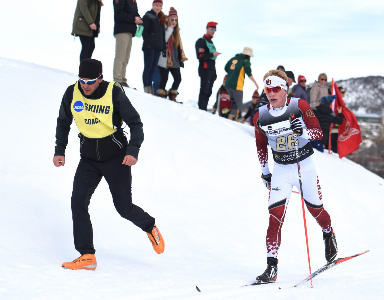 Steamboat Springs skier and DU freshman Lars Hannah skis Saturday in the NCAA Skiing Championships in Steamboat Springs.