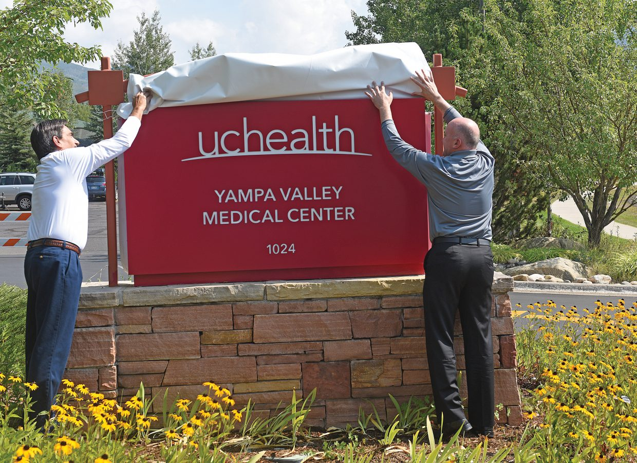 Yampa Valley Medical Center unveils new sign, celebrates