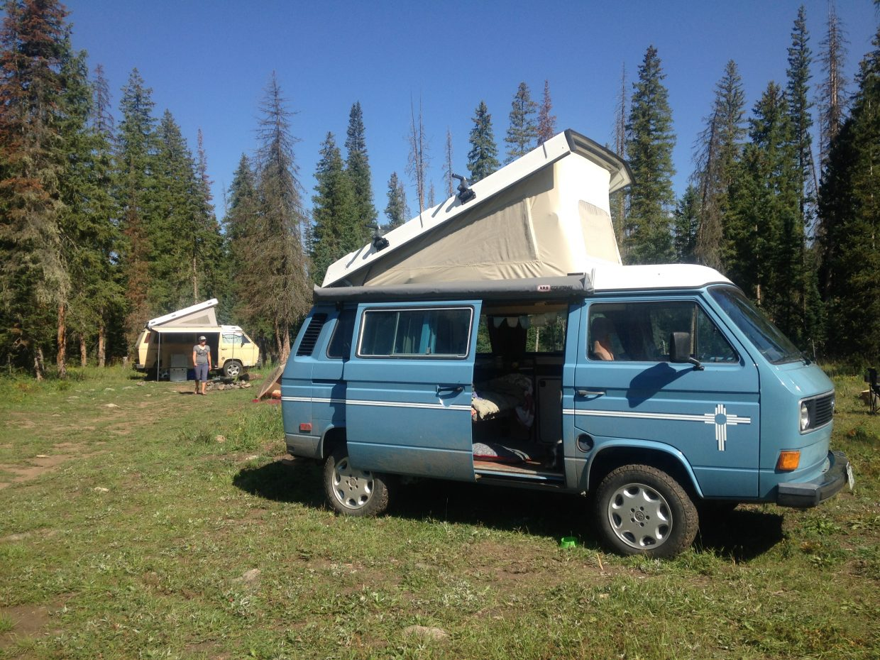 Burning Van 2017 in Routt National Forest