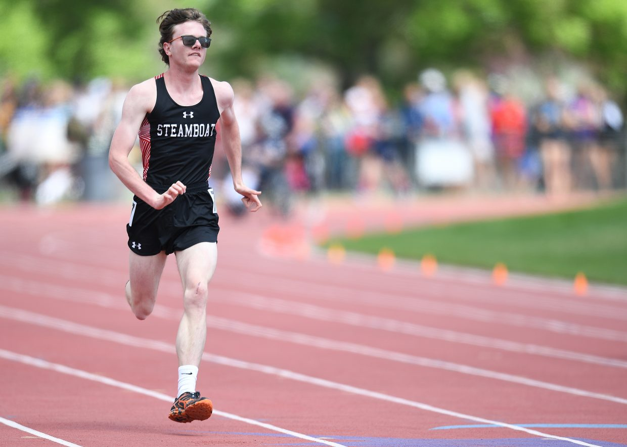Jon Ruhle runs Friday at the state track meet in Lakewood.