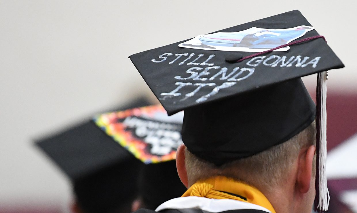 The 2018 graduating class at Soroco High School didn't hold back when it came to decorating their hats.