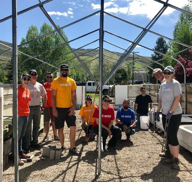 Volunteers from Steamboat Ski and Resort Corp. participate in United Way's Day of Caring.