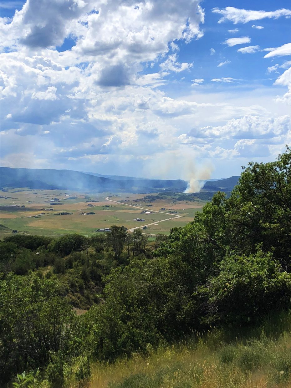 Two fires ignite north and south of Steamboat late Sunday