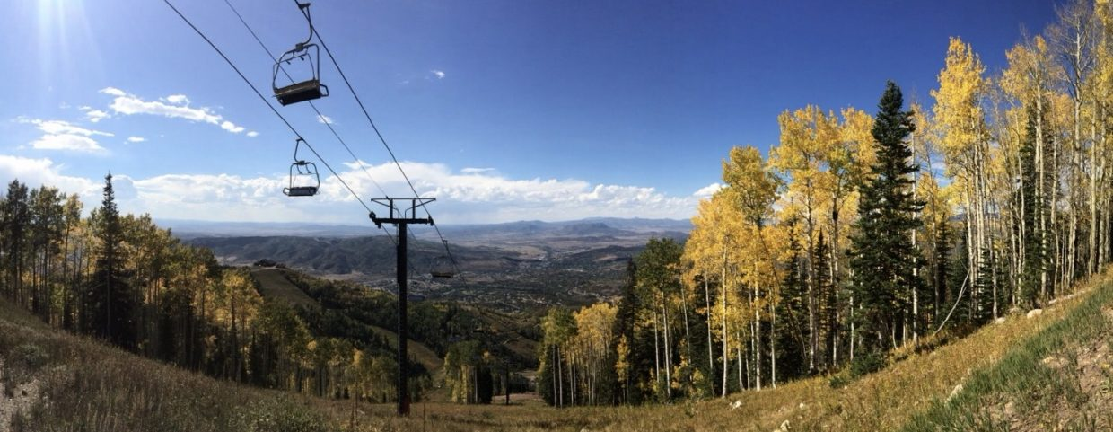4-points chairlift, fall foliage, and a beautiful view of the Yampa Valley.