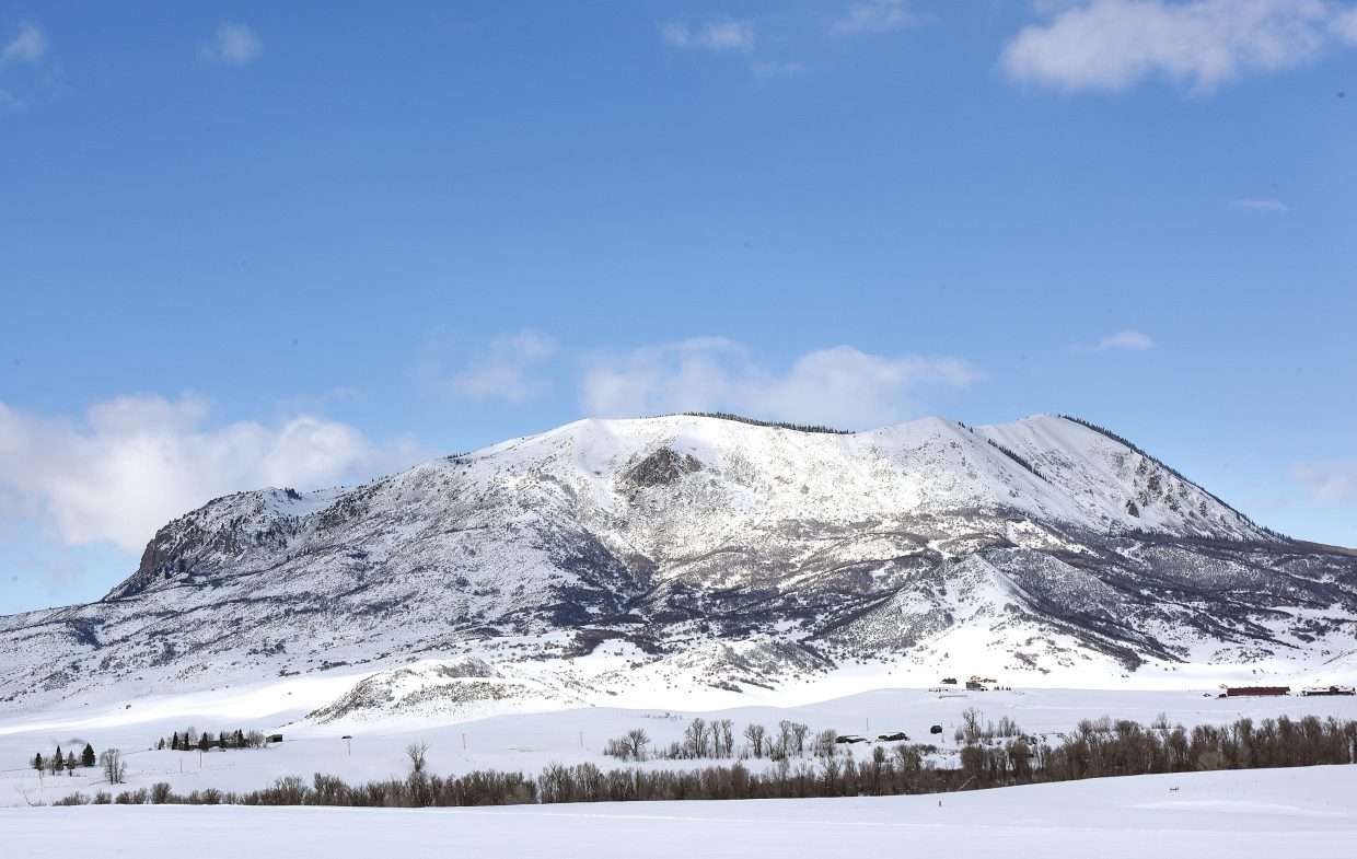 A fresh coat of snow covers Sleeping Giant Monday afternoon.
