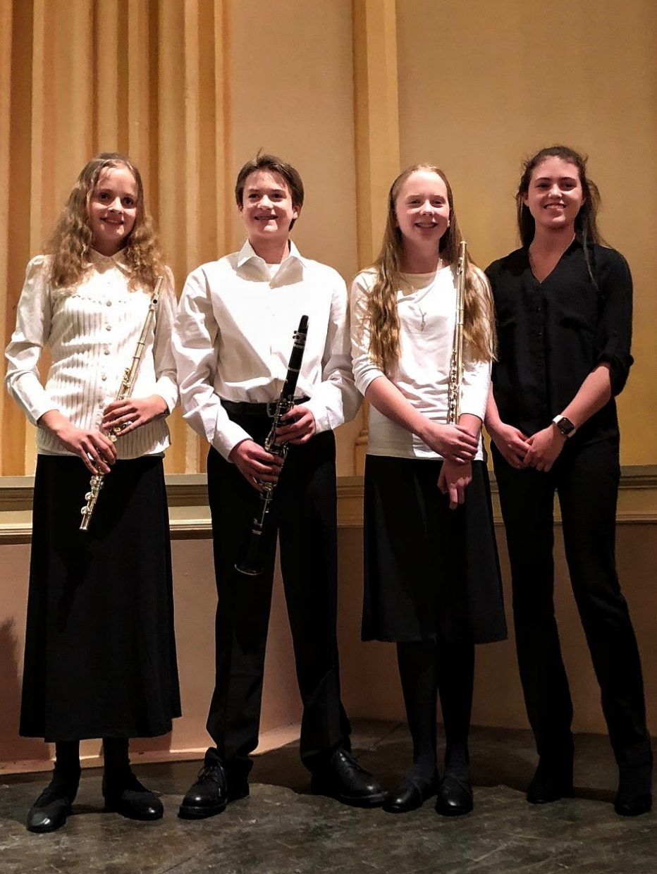 Four students, three from Sam's and one from sshs, were accepted into the prestigious be CU middle school/highschool honor band. It was a 2 day practice for each section that ended in a concert on Sat Feb 23rd. Participants from Sam's Sophie flam, Michael Lake, Katherine Knapp, and from sshs Arianns Tullis.