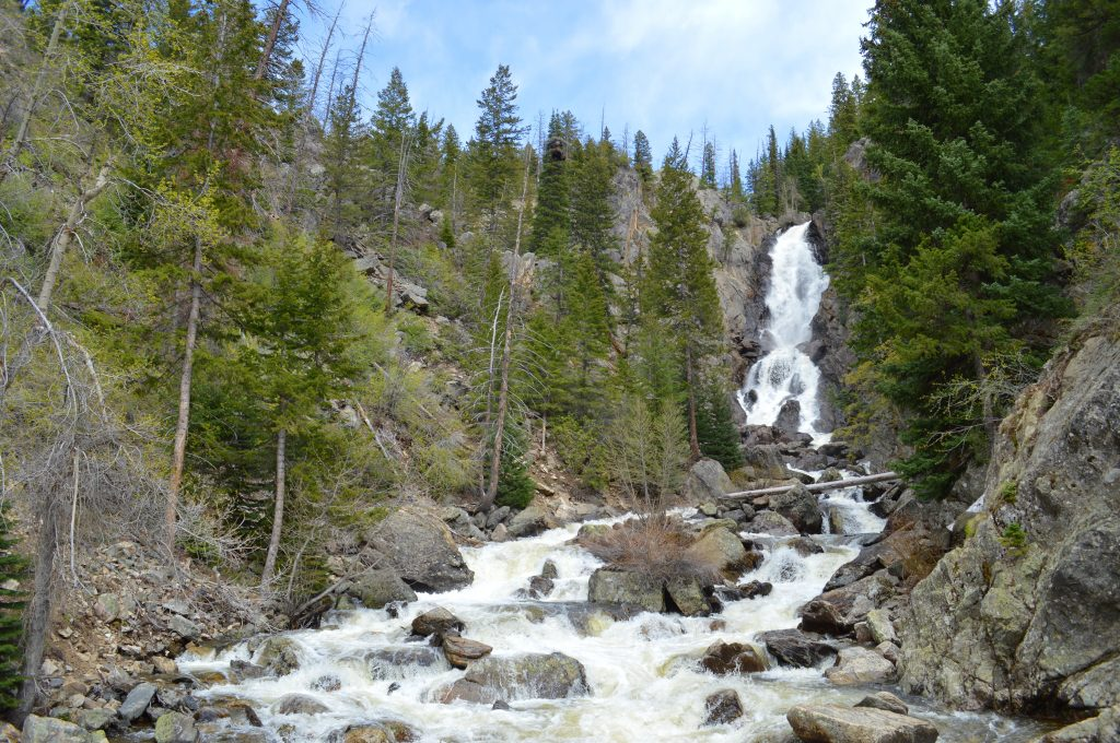Fish Creek Falls turns from winter to spring.