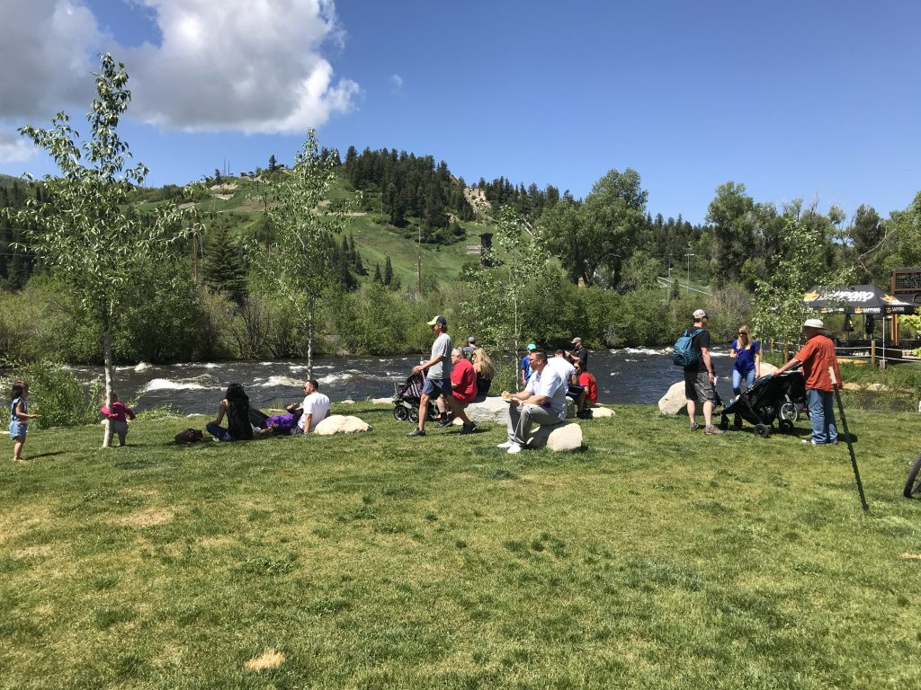 Families by the Yampa River