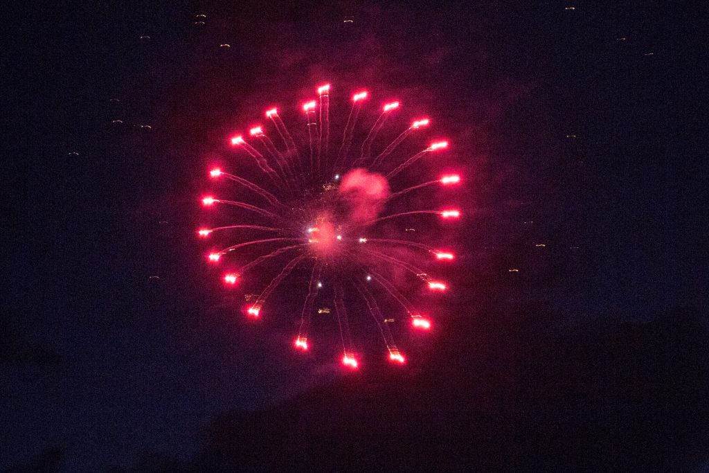 The Red, White, and Blue in the fireworks display in Steamboat last night 7-4-19.