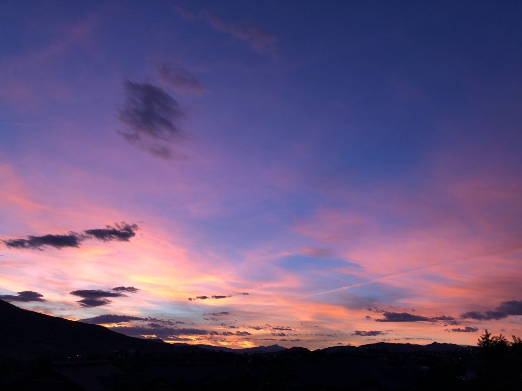 Tuesday sunset in Routt County.