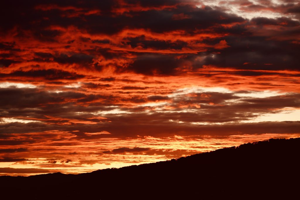 Interesting weather day in Steamboat Springs. Saturday's sunset.