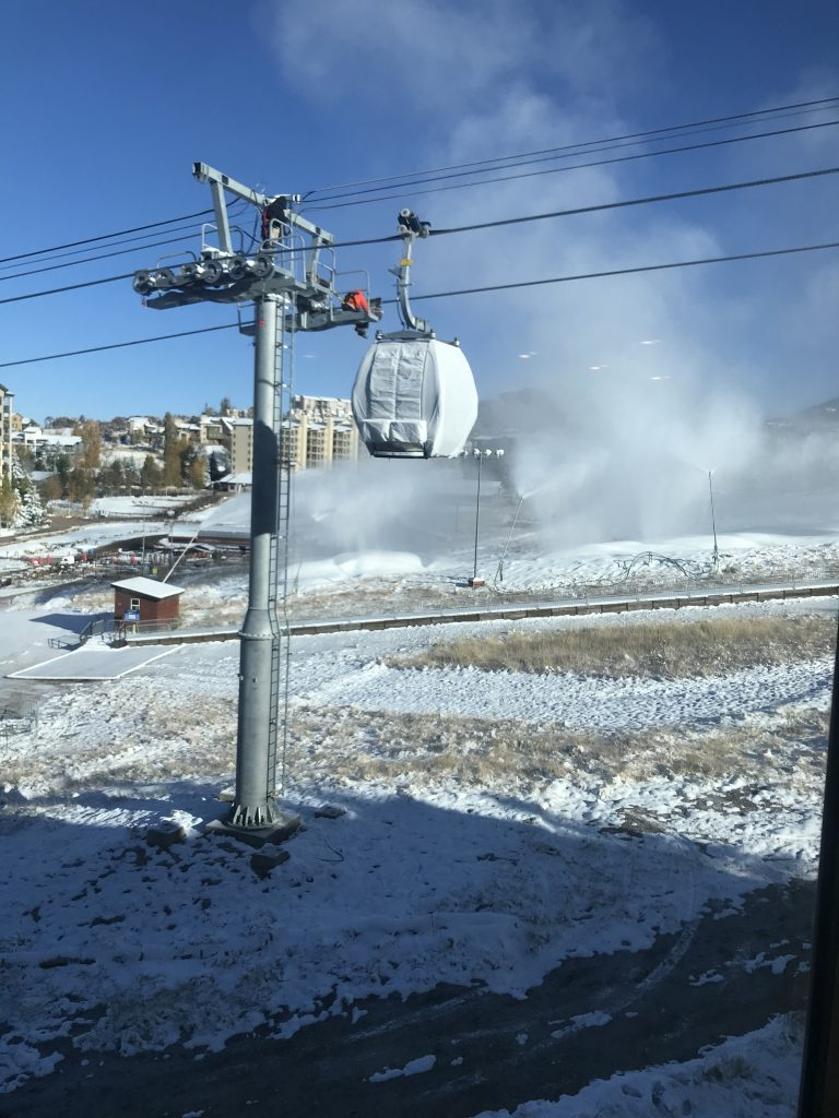 1st cabin placed on new gondola at Steamboat Resort; online auction of old trail signs opens Monday