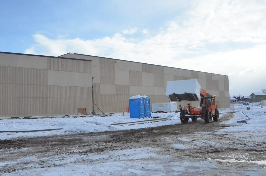 Construction on Hayden's new school nearly halfway complete